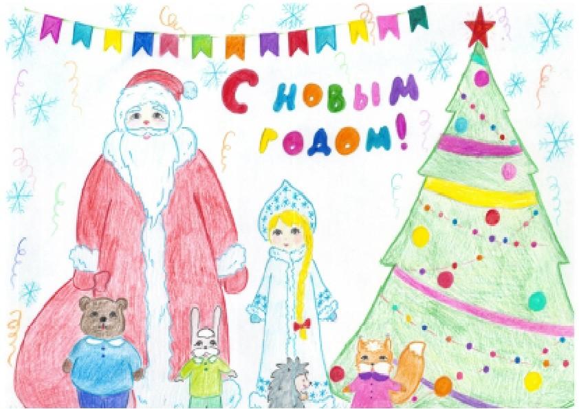 Картинки на тему новый год детские